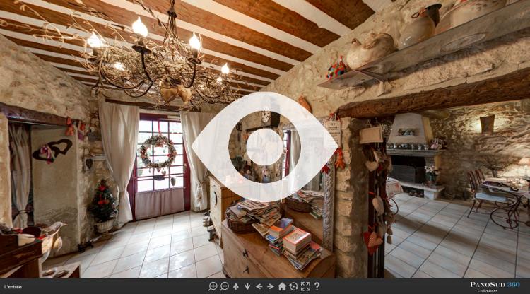 Visite virtuelle de l'entrée du Mas du Grand Jonquier