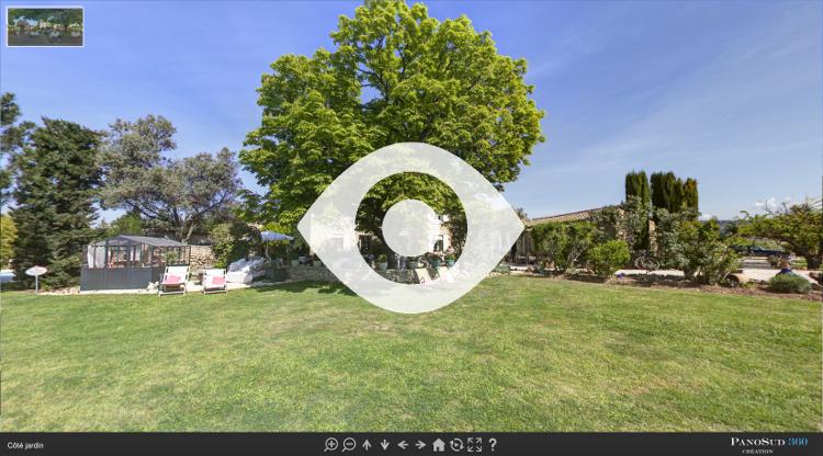 Visite virtuelle de l'extérieur du Mas du Grand Jonquier