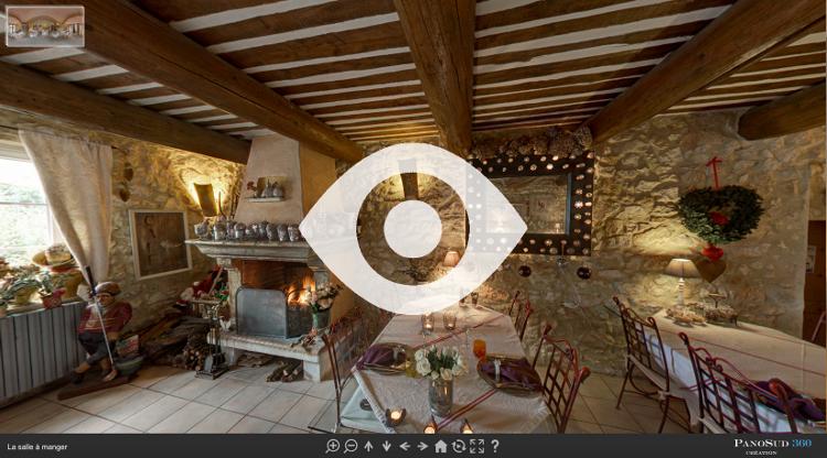Visite virtuelle de la table d'hôtes du Mas du Grand Jonquier