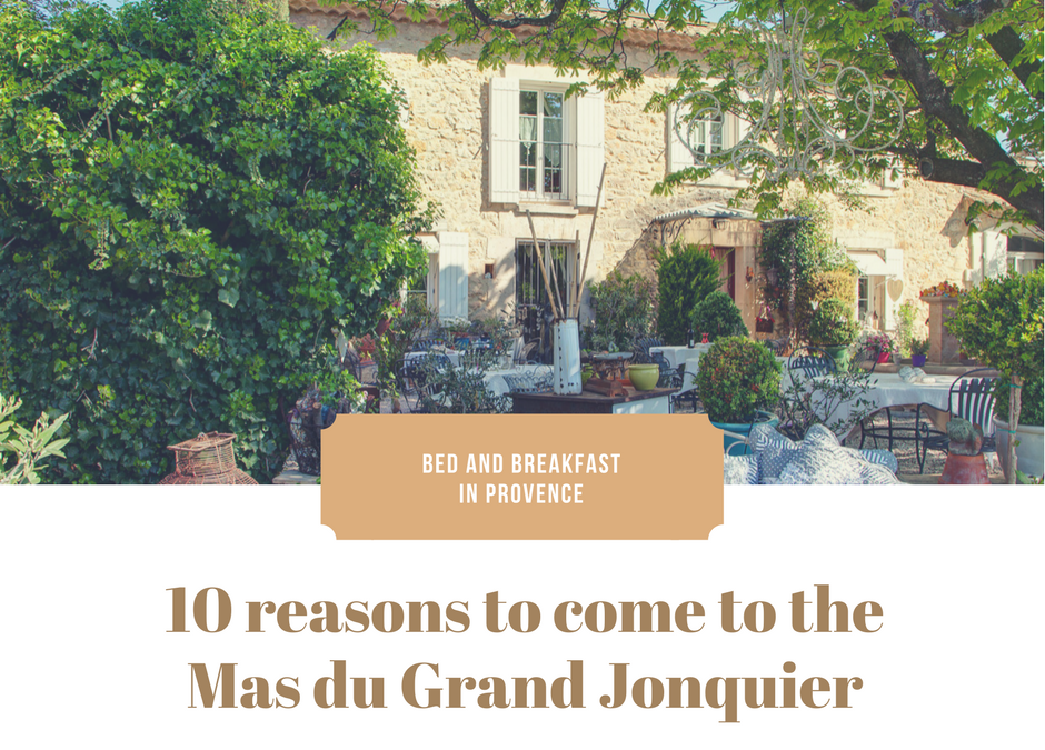 Why should you come and stay at the Mas du Grand Jonquier?